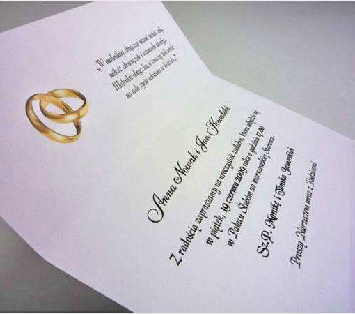 Zaproszenia ślubne tekst