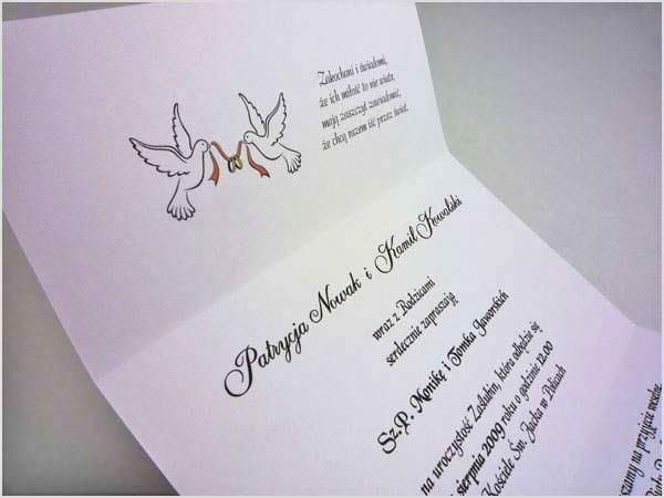 Piękne Zaproszenia ślubne W Różnych Kolorach Parka
