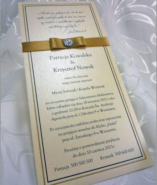Zaproszenia na ślub kremowe