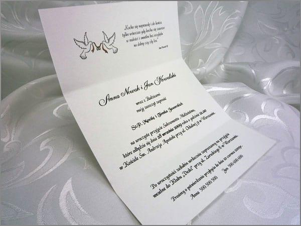 Zaproszenia ślubne Z Kokardą Parka