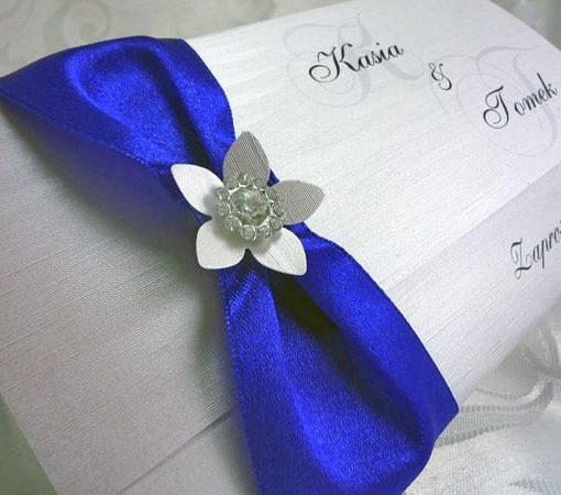 Zaproszenia ślubne kolor chabrowy