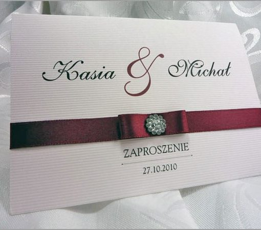 Zaproszenia ślubne bordowe