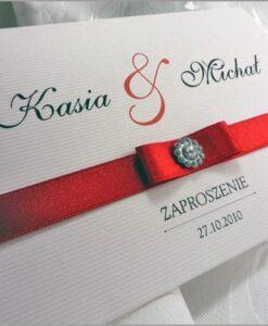Zaproszenia na ślub czerwone