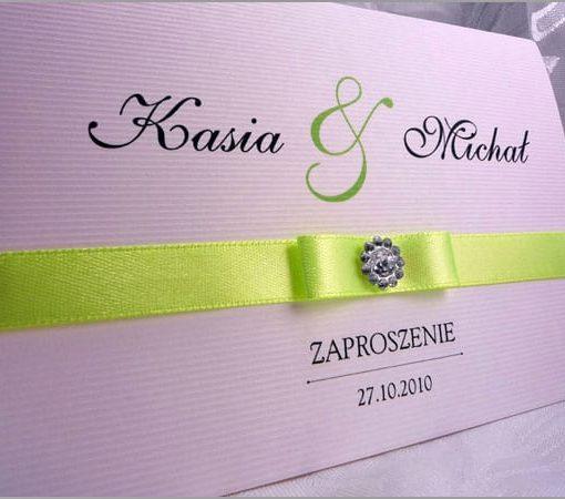 Zielone zaproszenia na ślub