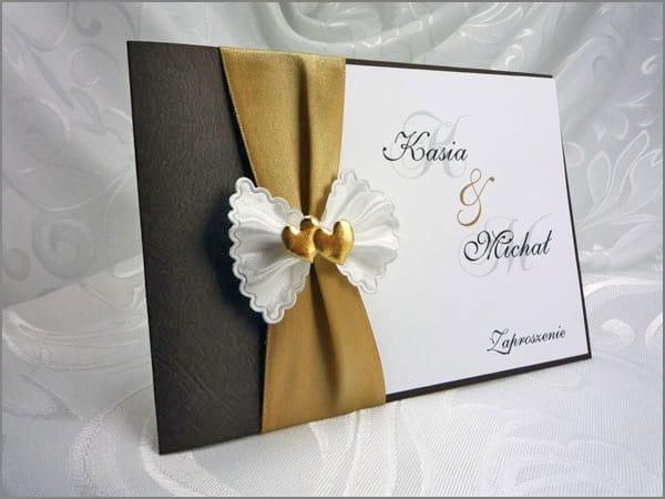 Scarlet eleganckie zaproszenia ślubne