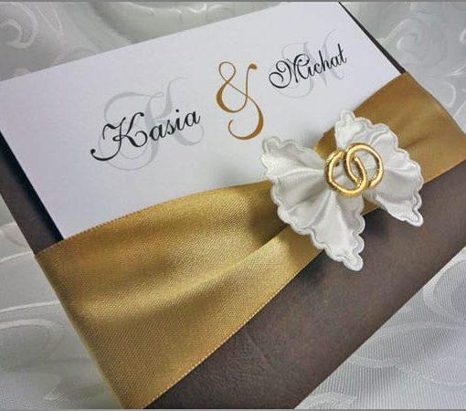 Zaproszenia ślubne w brązie