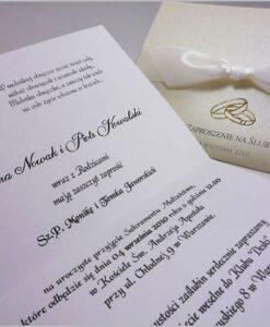 Eleganckie ręcznie robione zaproszenia ślubne