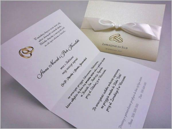 Ręcznie robione zaproszenia ślubne eleganckie