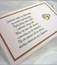 Wkładki do zaproszeń ślubnych z wierszykami