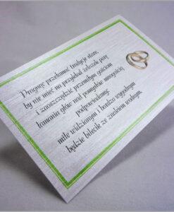 Wkładki do zaproszeń
