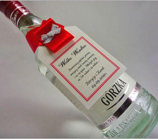 Zawieszki na wódkę weselną – wzór nr 1