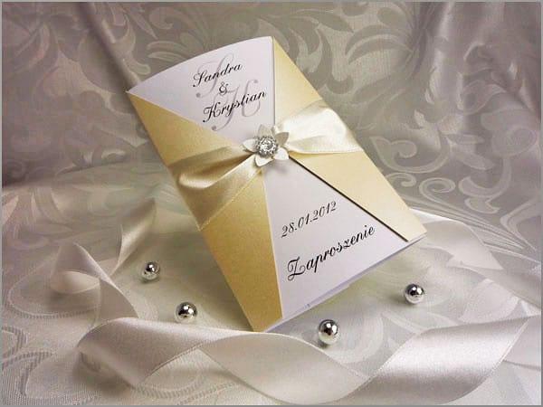 Zaproszenia ślubne z cyrkonią