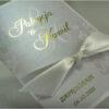 Złocone zaproszenia ślubne