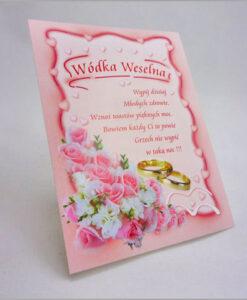 Etykiety na wódkę weselną