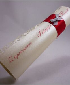 Zaproszenia ślubne rulon