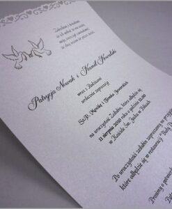 Zaproszenia ślubne wycięte serduszka