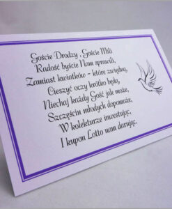 Karteczki z wierszykiem lotto zamiast kwiatów