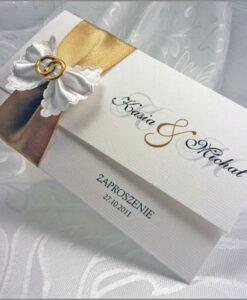Zaproszenia ślubne z wstążeczką