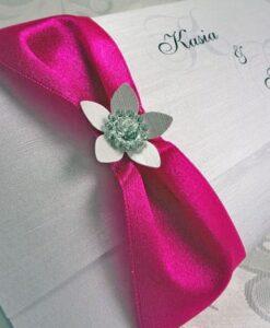 Zaproszenia ślubne kolor fuksja