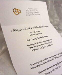 Wnętrze zaproszenia ślubnego Lilly