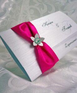 Zaproszenia ślubne w kolorze fuksji
