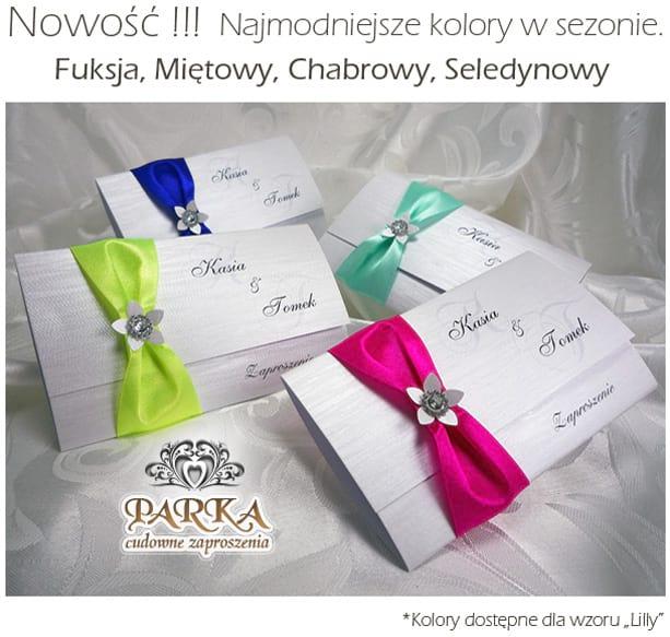 Najmodniejsze kolory zaproszeń