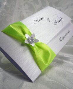 Zaproszenia ślubne kolor seledynowy