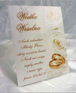 Etykiety naklejki na wódkę weselną
