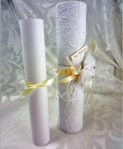 Ślubne podziękowania tuba rulon