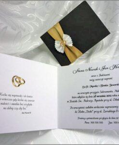 Eleganckie zaproszenia wnętrze
