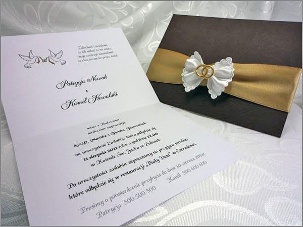 Najładniejszy wzór zaproszenia ślubnego