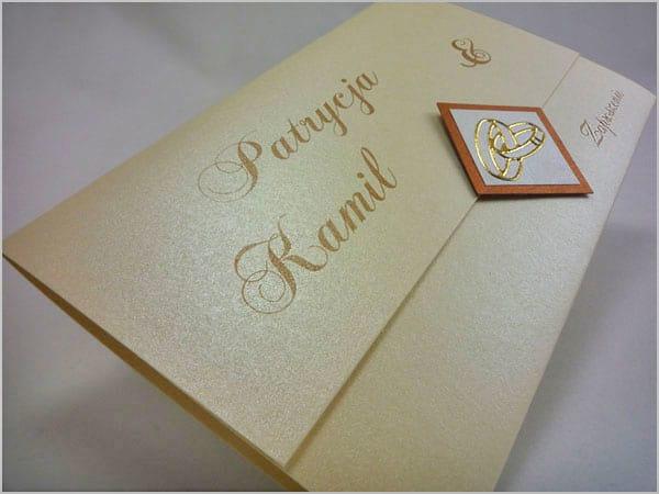 Zaproszenia na ślub z kremowego papieru