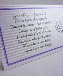 Bileciki do zaproszeń z wierszykami