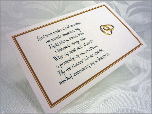 Wkładki do zaproszeń ślubnych z ozdobnego papieru